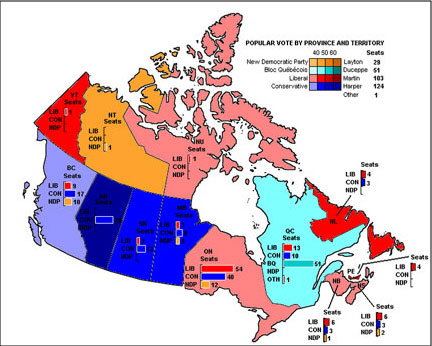City Mayors Canadas Election Cities - Political map of canada with cities